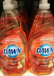 Dawn Antibacterial Hand Soap and Dish Soap Bottles