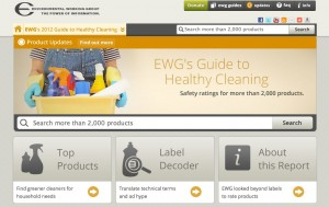 "EWG's Cleaning Database, ""Guide to Healthy Cleaning"""