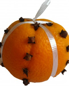 Orange Pomander with Cloves
