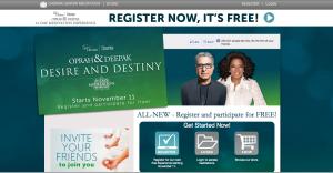 Oprah & Deepak 21-Day Meditation Experience: Desire & Destiny Web Page