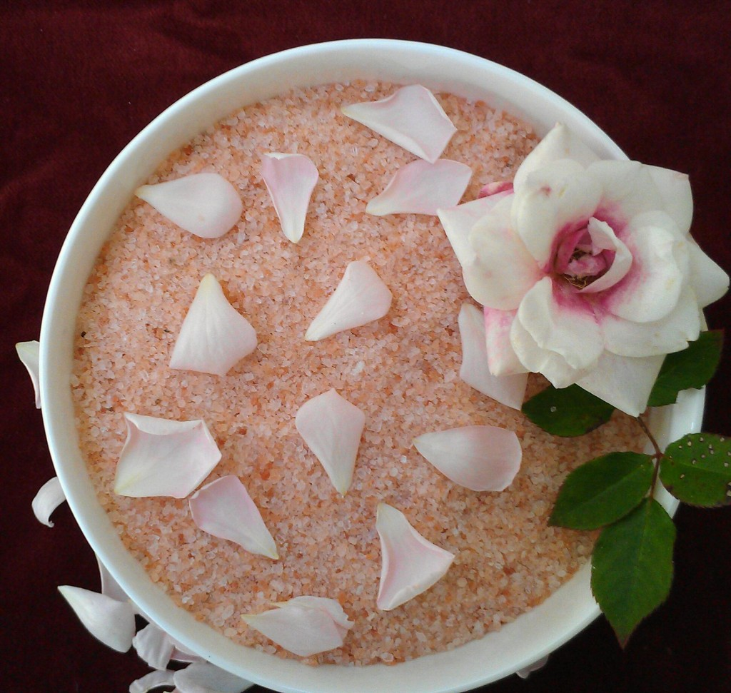 Himalayan Pink Rose Salt Bath for Valentine's Day