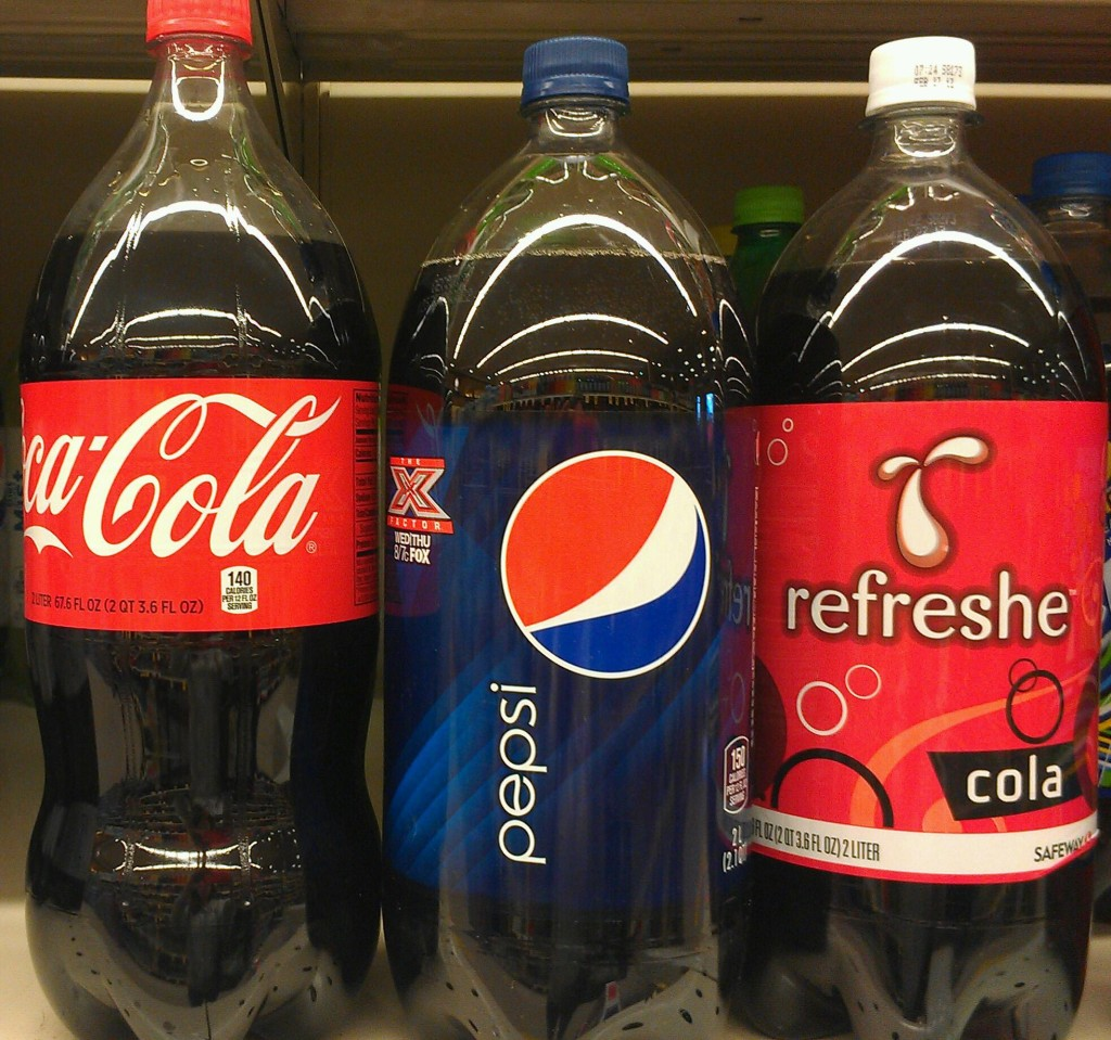 Caramel coloring used in popular soda products, such as Pepsi and Coca Cola, contain the carcinogen, 4-Mel. Photo © Karen Peltier