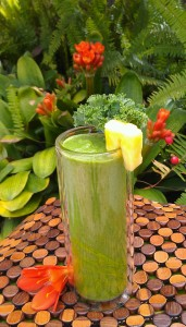 This nutrition-rich smoothie made with tropical fruits, ginger, and greens is full of health benefits, such as being a great digestion booster, potential mood enhancer, and more!