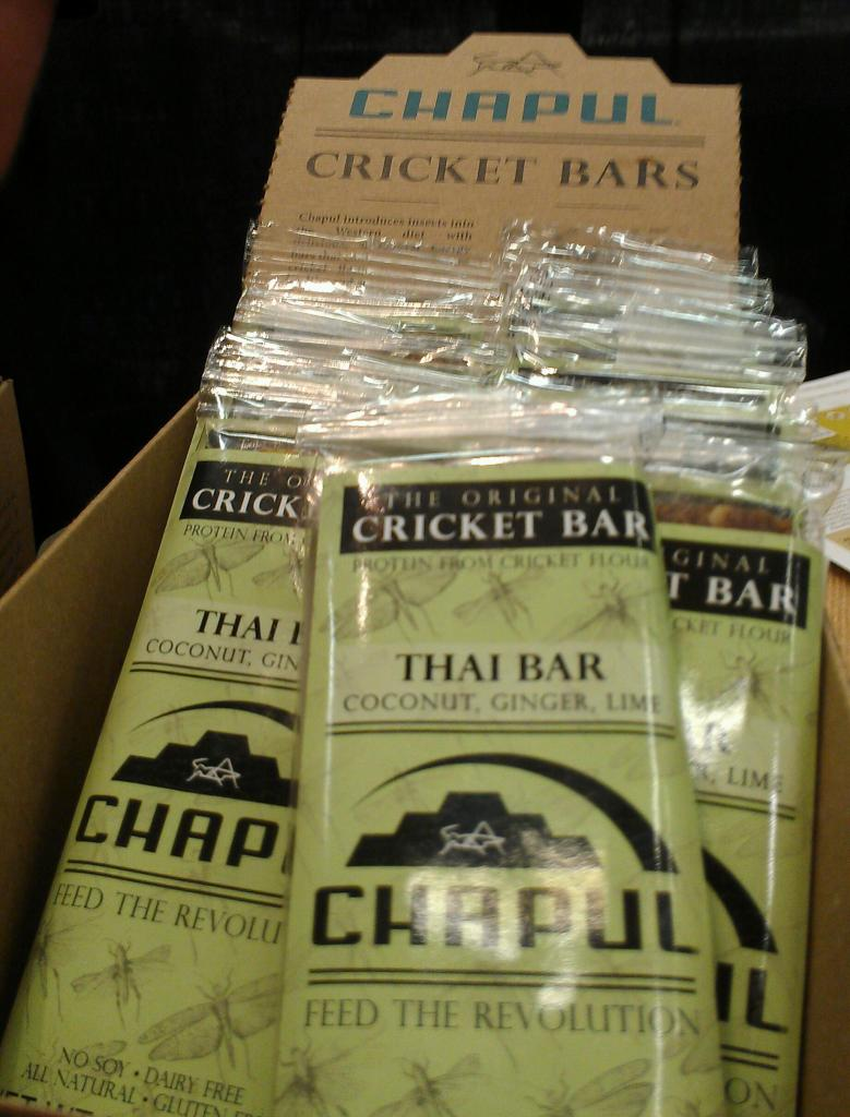Chapul's Thai Bar comes in at 190 calories and features coconut, ginger, cricket flour and lime, but it does have other ingredients as well, such as dates, almond butter, cashews, and