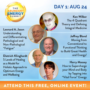 These are the five speakers presenting on Day 1, August 24, 2015, of the Abundant Energy Summit.